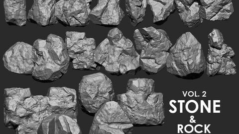 Stone & Rock IMM Brushes 20 in one Vol. 2