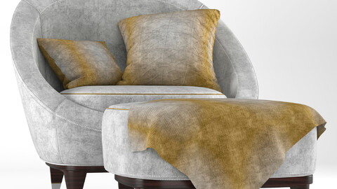 Nubuck Modern-Arm chair