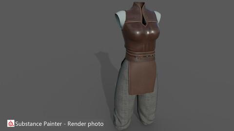 Ancient  woman  warrior costume_C