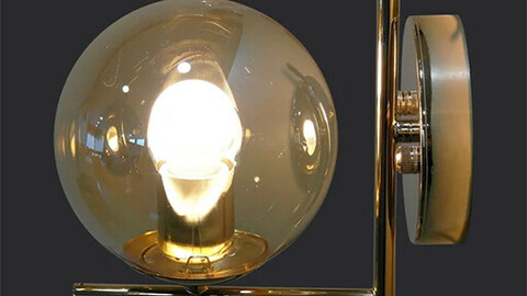 Half 1st wall lamp