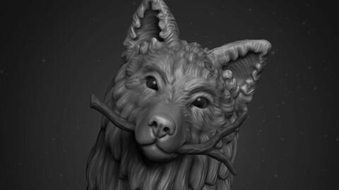 Happy Wolf Ready to Print