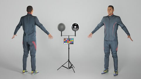 Man in tracksuit in A-pose 324