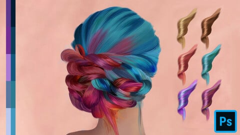Hair Swatches for Photoshop