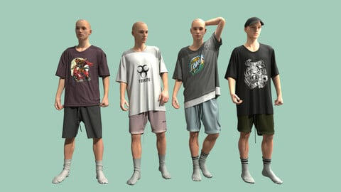 Male Outfits .Clo3D , Marvelous Designer .