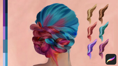 Hair Swatches for Procreate