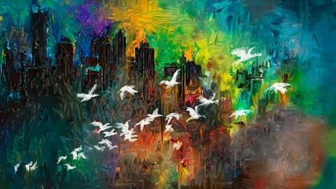 bird and city