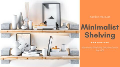 Minimalist Shelving System Decor Set