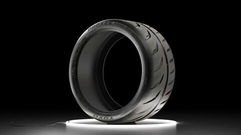 Car tire TOYO PROXES R888R 3D model