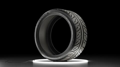 Car tire Bridgestone Potenza RE-71R 3D model