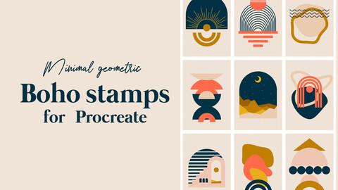 Geometric Boho Stamps For Procreate