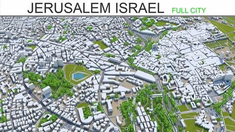 Jerusalem city Israel 3d model 60km