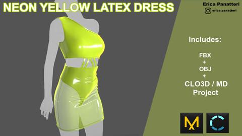 Neon Yellow Latex Dress