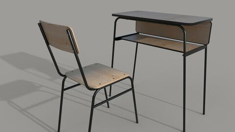 School chair and desk C