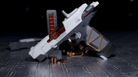 ZerTech Oisis sci-fi weapon pistol