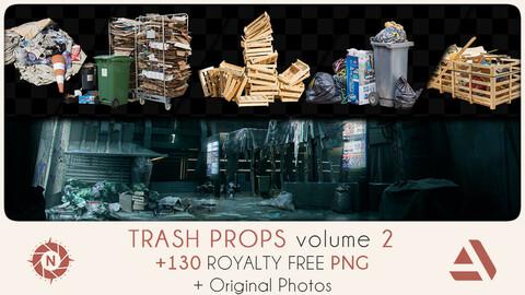PNG Photo Pack: Trash Props volume 2 + Original Photos