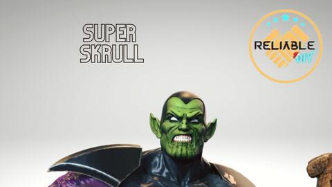 Super Skrull - 3D Printable STL FIles - Digital File