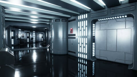 Deathstar Corridor Shot B
