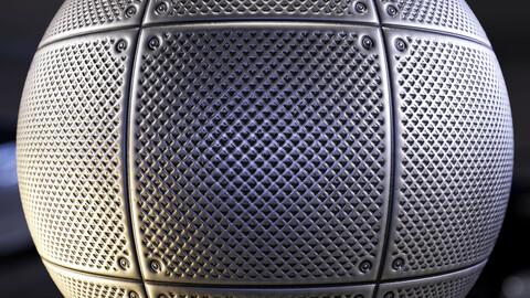 PBR - floor drain grate 1 - 4k MATERIAL