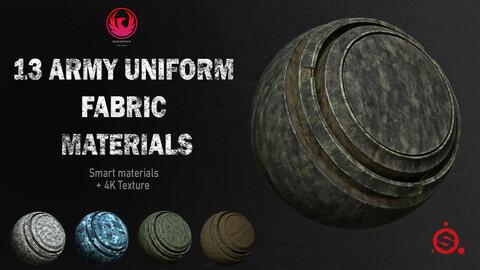 13 Uniform Army Fabric Materials