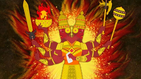 AGANI Dev Indian God of Fire