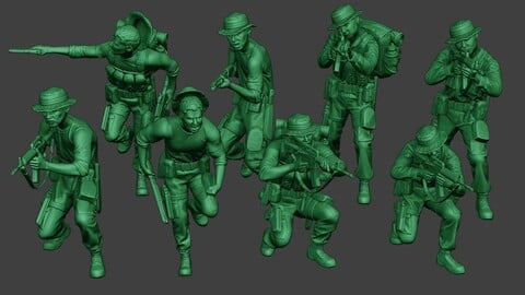 Modern Jungle Soldiers MJS1 Pack 2
