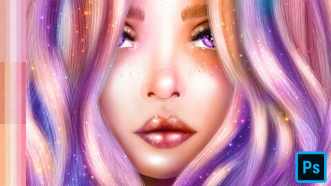 Glossy Skin Assets for Photoshop