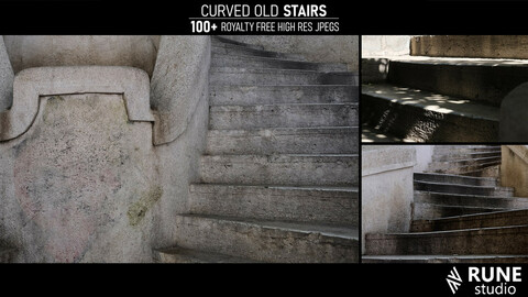 Curved Old Stairs reference pack