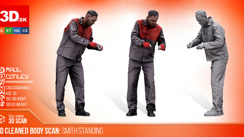 Cleaned 3D Body Scan Smith Standing