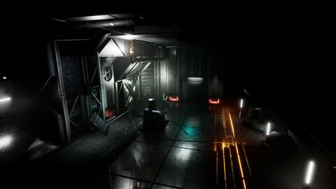 Modular Sci-Fi Environment for Unreal Engine