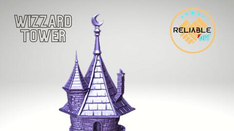 Wizzard Tower - STL 3D Printable - Digital STL Files