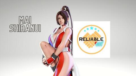 Shiranui Mai - Digital STL File - 3D Printable