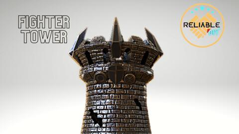 Fighter Tower - 3D Printable STL Files - Digital STL File