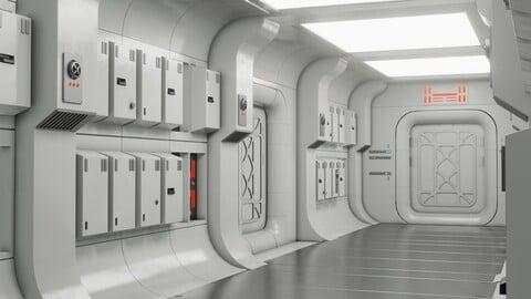 Star Wars Tantive corridor Blender 2.9+
