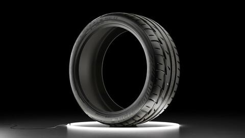 Car tire Bridgestone Potenza RE11 3D model
