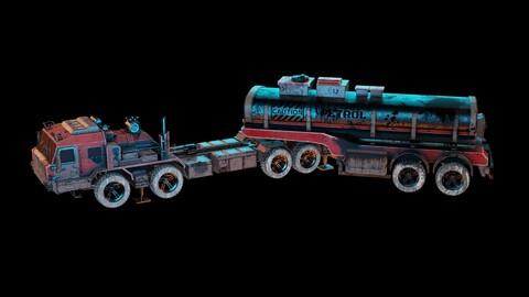 TRUCK oil tanker game ready