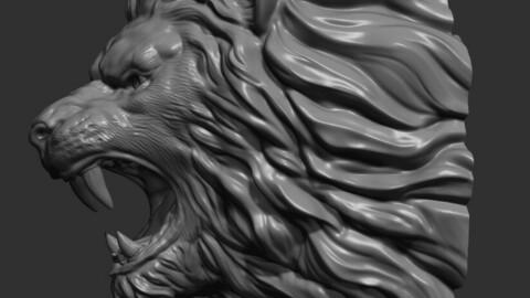 Lion face head