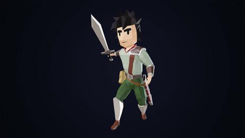 Low Poly Fantasy Warrior