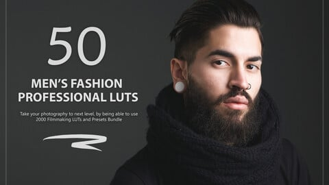 50 Men's Fashion LUTs and Presets Pack