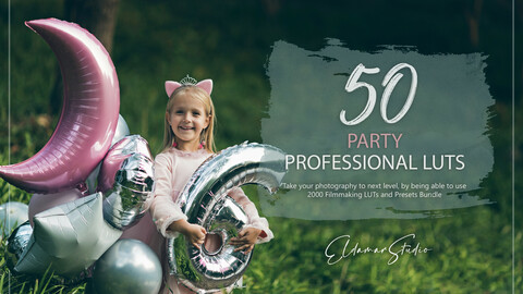 50 Party LUTs and Presets Pack