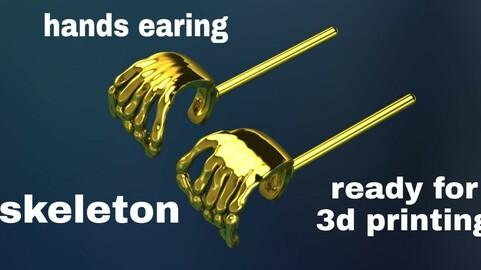 Skeleton earing hands
