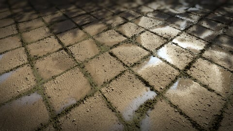 Pavement Tile Material l Substance Designer Graph