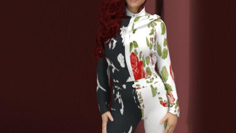 The flower suit