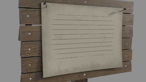 Wooden Signboard with Poster