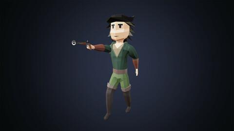 Low Poly Fantasy Hunter