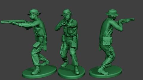 Modern Jungle Soldier Shoot Stand3 MJS1