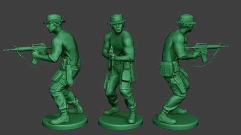 Modern Jungle Soldier Shoot Stand5 MJS1