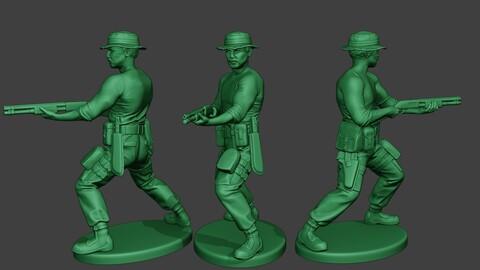 Modern Jungle Soldier Shoot Stand7 MJS1