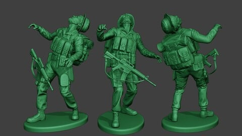 Modern Jungle Soldier Shooted MJS1