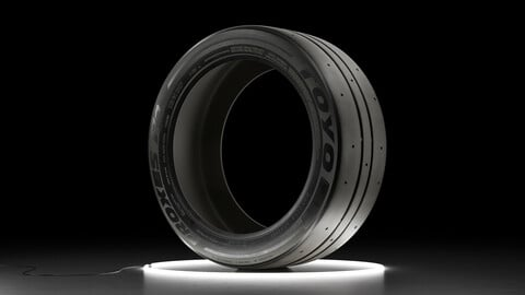 Car tire TOYO PROXES RR 3D model