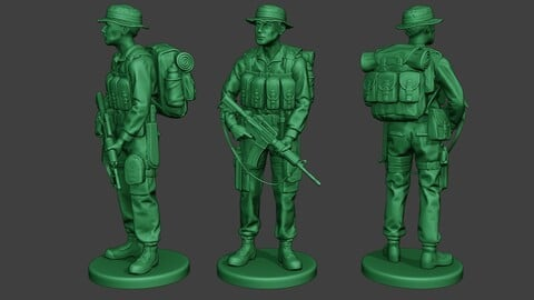 Modern Jungle Soldier Stand MJS1